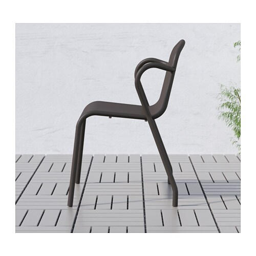 TUNHOLMEN Chair, outdoor IKEA The chair is sturdy, lightweight and maintenance-free, as it is made of rustproof aluminium.