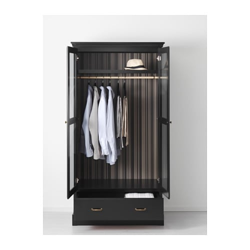UNDREDAL Wardrobe IKEA Hinges with integrated dampers catch the door and close it slowly, silently and softly.