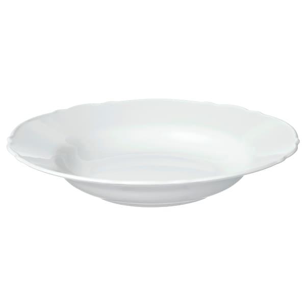 UPPLAGA Deep plate, white, 26 cm