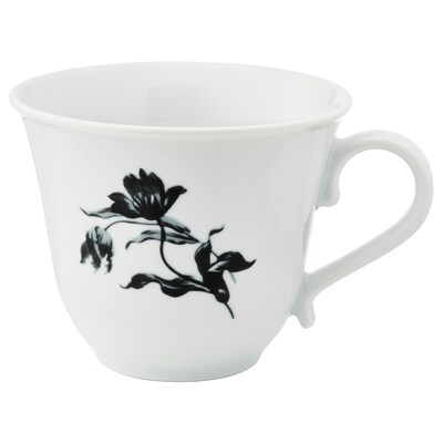 UPPLAGA Mug, white/patterned, 45 cl