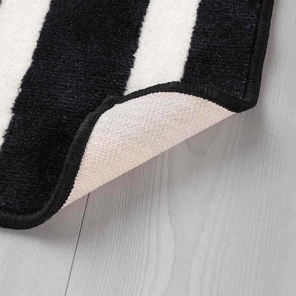URSKOG rug, low pile zebra/striped 133 cm 133 cm 1.77 m²