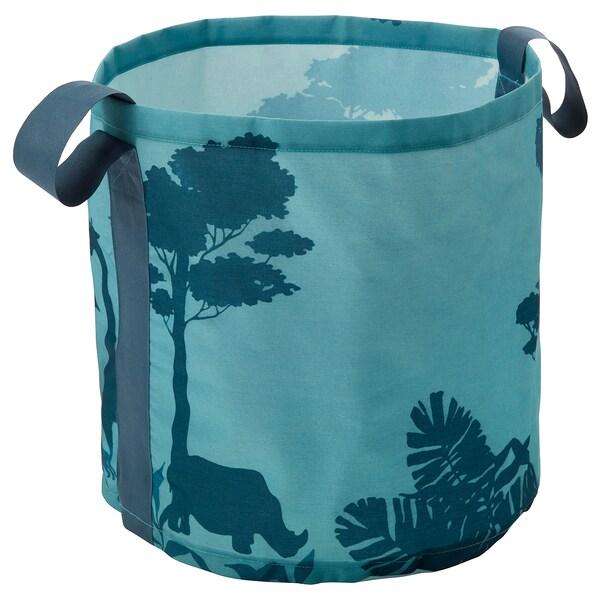 URSKOG storage bag trees/turquoise 43 cm 41 cm