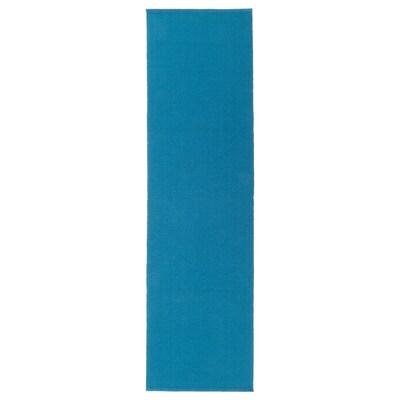 UTBYTT Table-runner, dark turquoise, 35x130 cm