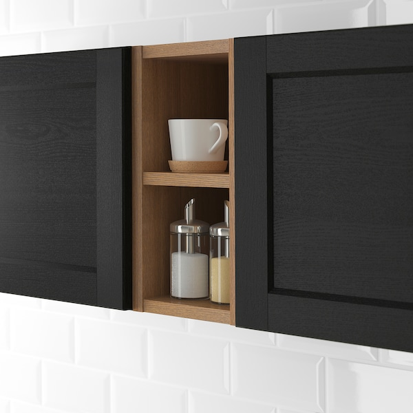 VADHOLMA open storage brown/stained ash 20 cm 37 cm 40 cm