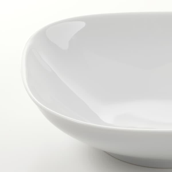 VÄRDERA Deep plate, white, 20x20 cm
