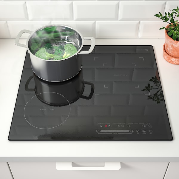 VÄRMTID IKEH-H300B Induction/glass ceramic hob, black, 59 cm