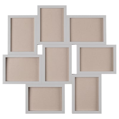 VÄXBO collage frame for 8 photos grey 55 cm 58 cm 13 cm 18 cm