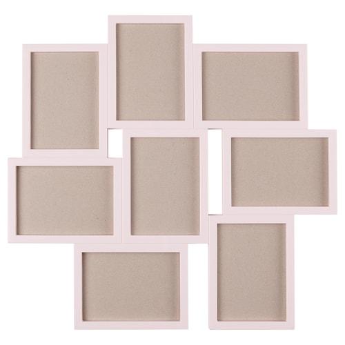 VÄXBO collage frame for 8 photos pink 55 cm 58 cm 13 cm 18 cm