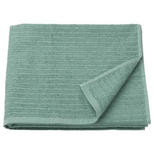 VÅGSJÖN bath towel light grey-green 400 g/m² 140 cm 70 cm 0.98 m²