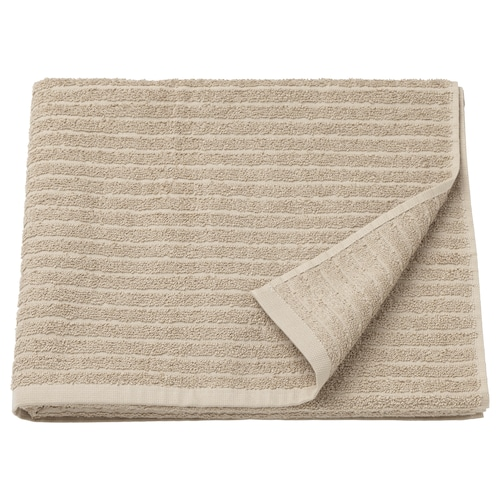 VÅGSJÖN bath towel beige 400 g/m² 140 cm 70 cm 0.98 m²