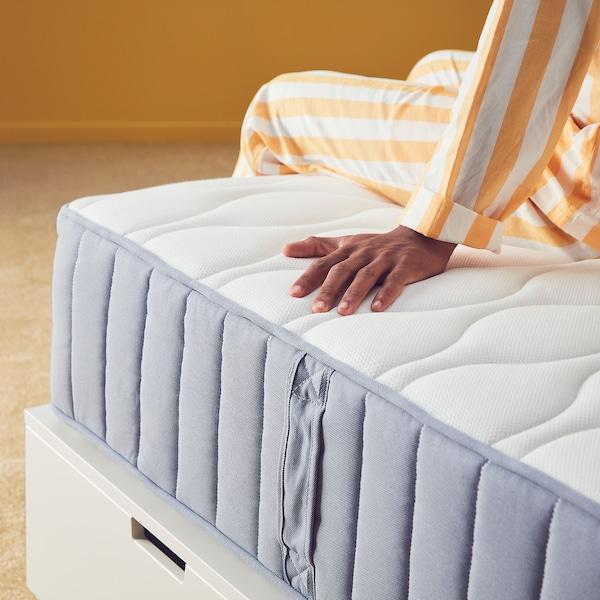 VÅGSTRANDA Pocket sprung mattress, extra firm/light blue, 150x200 cm