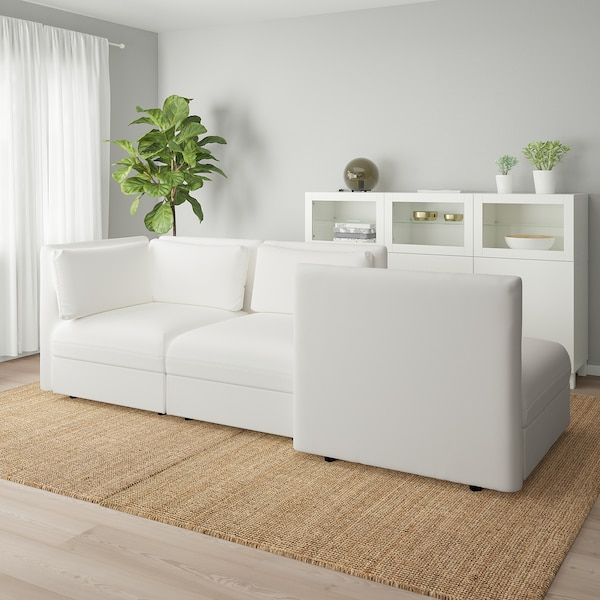 VALLENTUNA 3-seat modular sofa, with open end and storage/Murum white