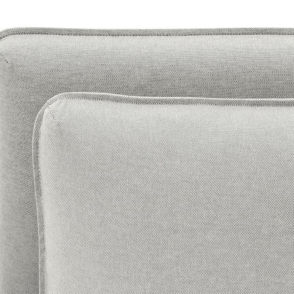 VALLENTUNA 3-seat modular sofa, with open end and storage/Orrsta light grey