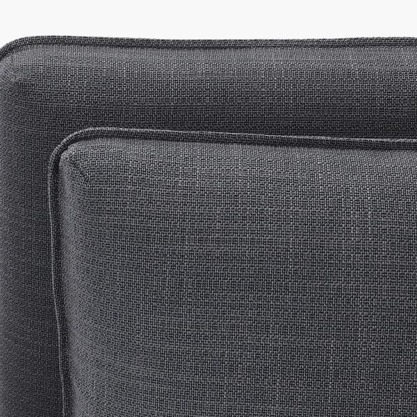 VALLENTUNA Modular corner sofa, 4 seat, with storage/Hillared/Murum dark grey/black