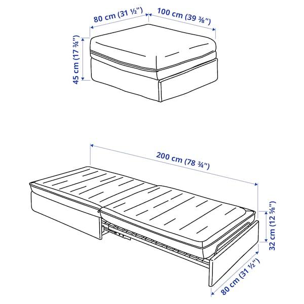 VALLENTUNA Sofa-bed module, Hillared beige