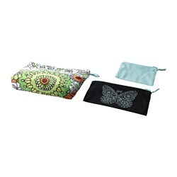 VÄNSKAPLIG accessory bag, set of 3, mixed colours assorted colours