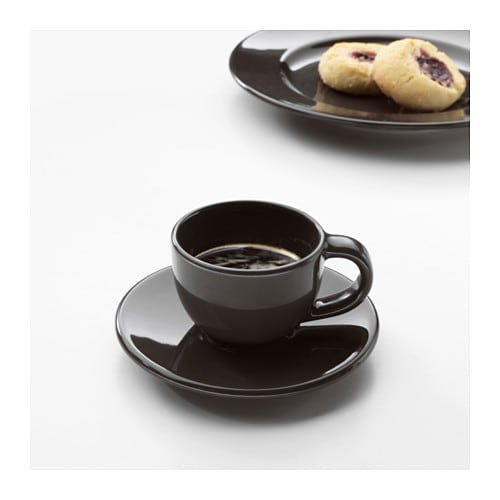 VARDAGEN Espresso cup and saucer IKEA Simple yet timeless tableware with a traditional style and soft round shapes with attention to details.
