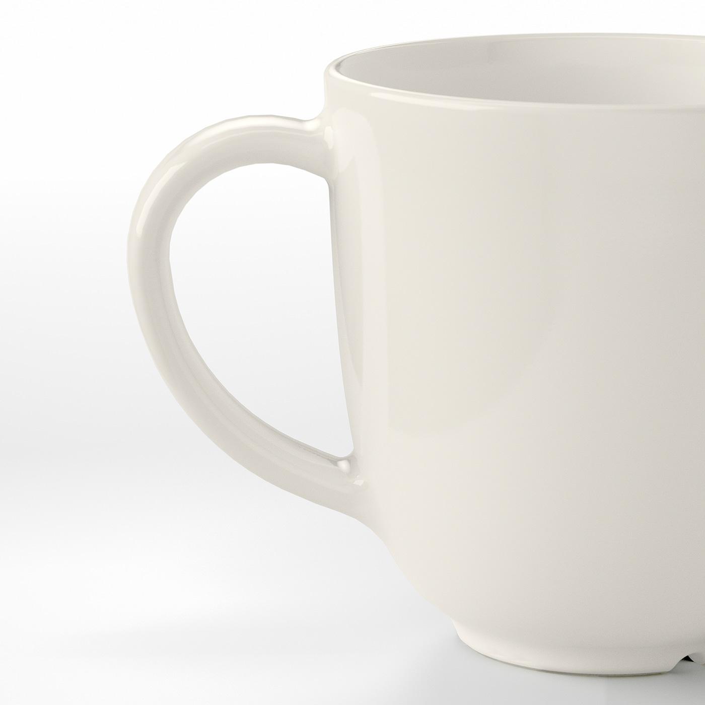 VARDAGEN Mug, off-white, 30 cl