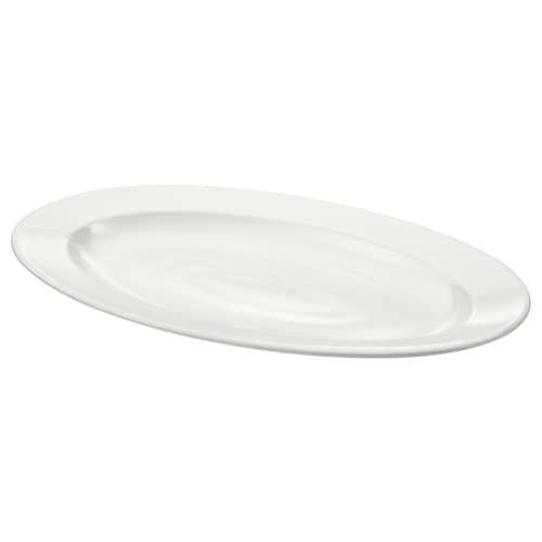 VARDAGEN serving plate off-white 35 cm 23 cm