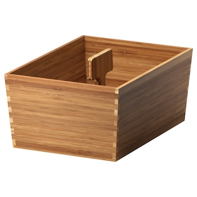 VARIERA box with handle bamboo 33 cm 24 cm 16 cm