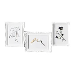 VÄSBY collage frame for 3 photos, white