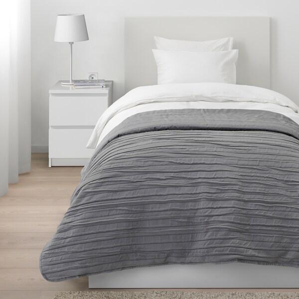 VEKETÅG Bedspread, grey, 160x250 cm