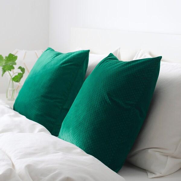 VENCHE cushion cover dark green 50 cm 50 cm