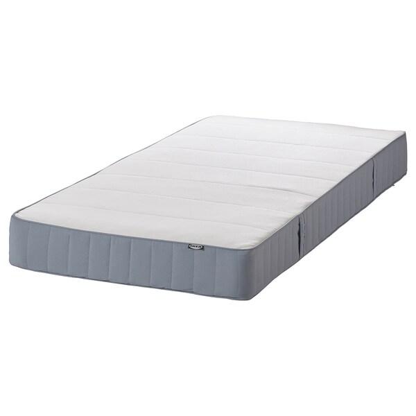 VESTMARKA Sprung mattress, extra firm/light blue, 120x200 cm