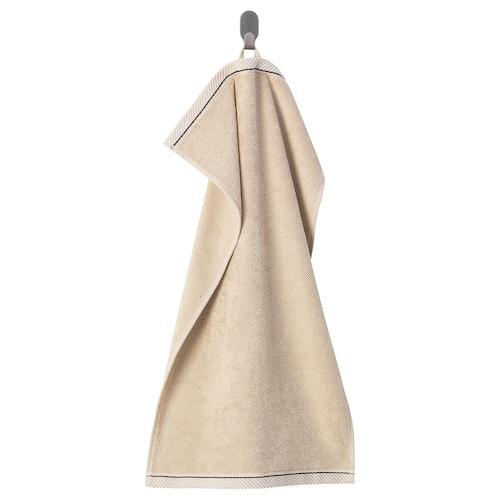 VIKFJÄRD hand towel light beige 475 g/m² 70 cm 40 cm 0.28 m²