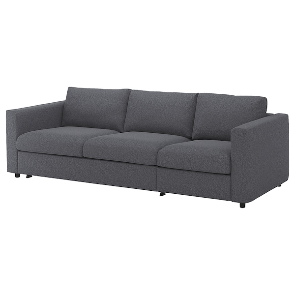 VIMLE 3-seat sofa-bed, Gunnared medium grey