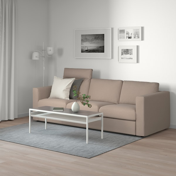 VIMLE 3-seat sofa, with headrest/Tallmyra beige
