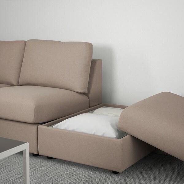 VIMLE Corner sofa, 4-seat, with open end/Tallmyra beige