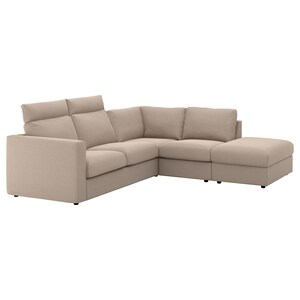 Cover: With open end with headrests/tallmyra beige.