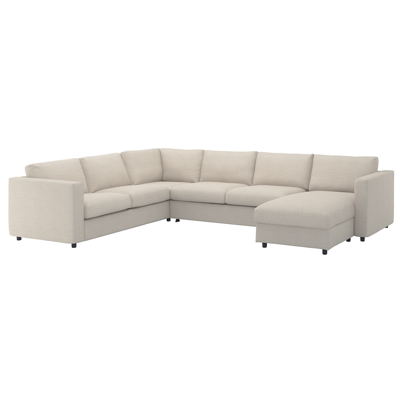 Groovy Vimle Corner Sofa Bed 5 Seat With Chaise Longue Gunnared Beige Caraccident5 Cool Chair Designs And Ideas Caraccident5Info