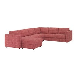 VIMLE corner sofa, 5-seat, with chaise longue, Dalstorp multicolour