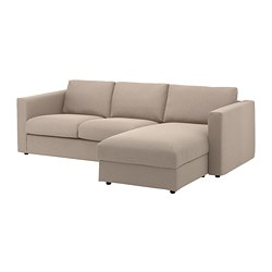 VIMLE 3-seat sofa, with chaise longue, Tallmyra beige