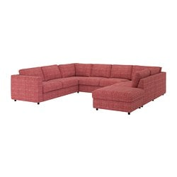 VIMLE u-shaped sofa, 6 seat, with open end, Dalstorp multicolour