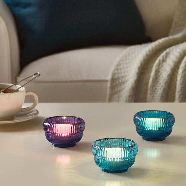 VINTER 2018 Tealight holder, blue/lilac, 5 cm