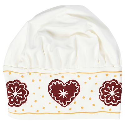 VINTER 2020 Children's hat, gingerbread pattern white/brown