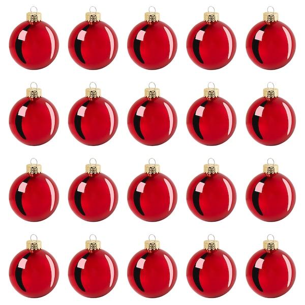 VINTER 2020 Decoration, bauble, glass red, 6 cm