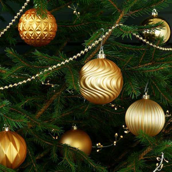 VINTER 2020 Decoration, bauble, gold-colour, 8 cm