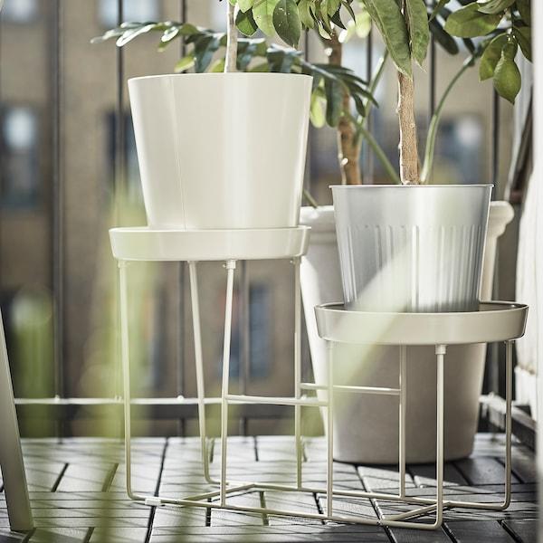 VITLÖK Plant stand, in/outdoor beige, 38 cm
