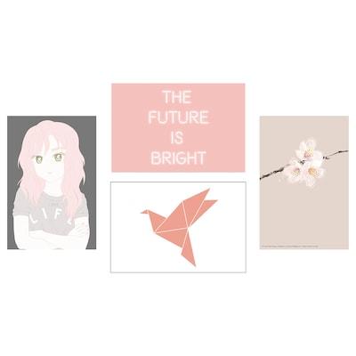 YLLEVAD Art card, Life in pink, 10x15 cm