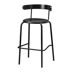YNGVAR bar stool, anthracite