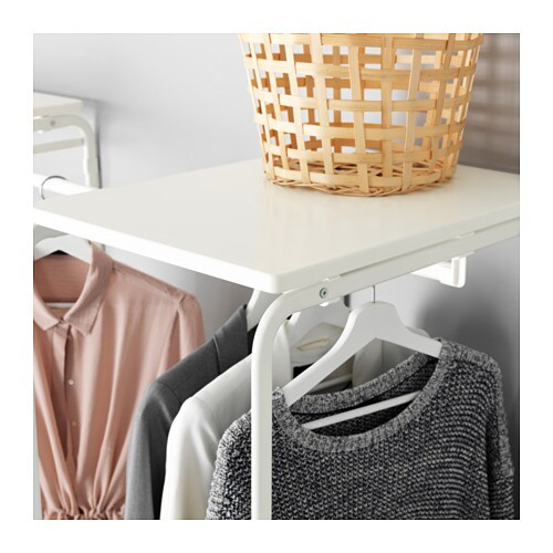 ALGOT 알고트 프레임+봉/철망바구니/상단선반 IKEA ALGOT/알고트 시리즈는 다양한 방식으로 조합할 수 있고 용도와 공간에 맞게 구성할 수 있습니다. ALGOT/알고트 프레임에 같은 시리즈의 바구니를 넣으면 어느 방에나 잘 어울리는 수납 솔루션이 완성됩니다.