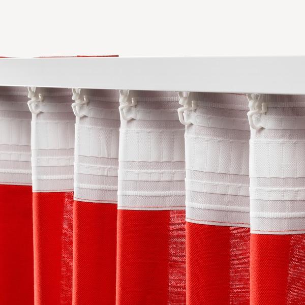 ANNALOUISA 안날로우이사 커튼한쌍, 레드, 145x250 cm