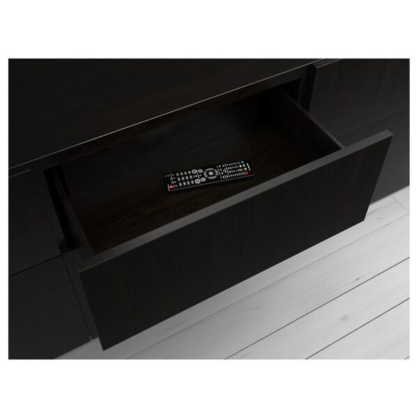 BESTÅ 베스토 서랍프레임, 블랙브라운, 60x15x40 cm