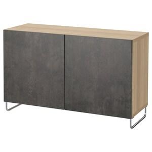 색상: 화이트스테인 참나무무늬 칼비켄/술라르프/다크그레이 콘크리트 효과.