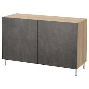 색상: 화이트스테인 참나무무늬 칼비켄/스탈라르프/다크그레이 콘크리트 효과.