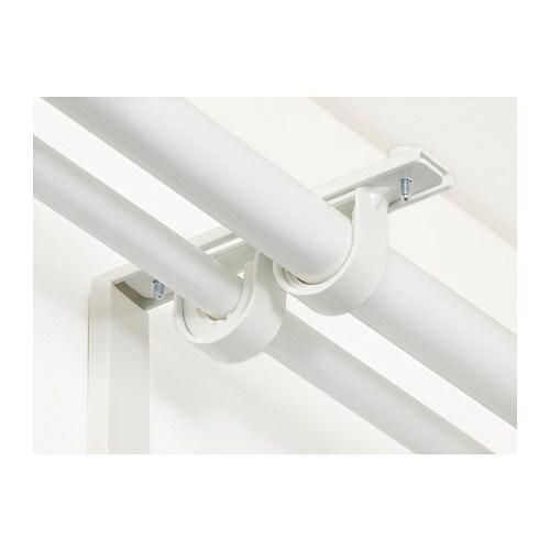 BETYDLIG 베튀들리그 커튼봉홀더 IKEA BETYDLIG/베튀들리그 벽/천장 브래킷으로 더블브래킷을 만들어보세요. 미끄럼 방지 라이너 2개 -  두꺼운 라이너는 RÄCKA(레카) 커튼봉에, 얇은 라이너는 HUGAD(후가드) 커튼봉에 사용할 수 있습니다.